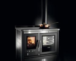 KLOVER - vesta inox Cuisinière à bois